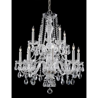 12-Light Polished Chrome Chandelier
