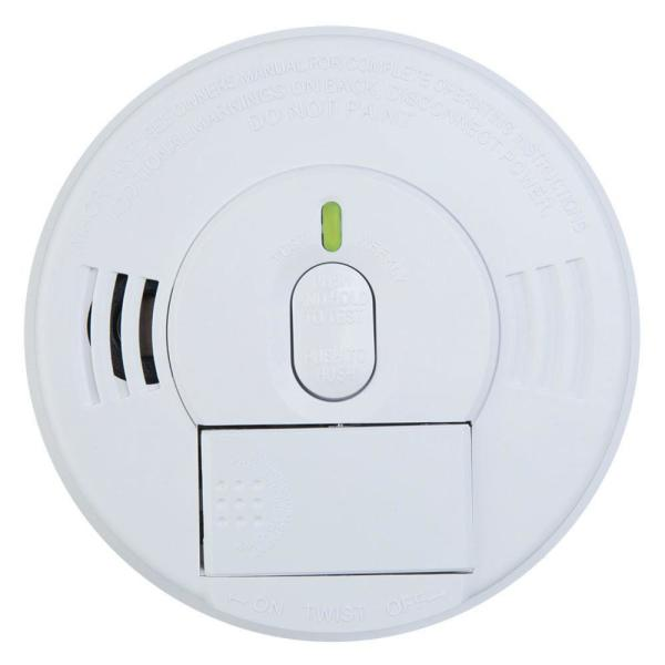FireX Hardwire Smoke Detector with 9-Volt Battery Backup with Adapters, Ionization Sensor, and 1-Button Test/Hush