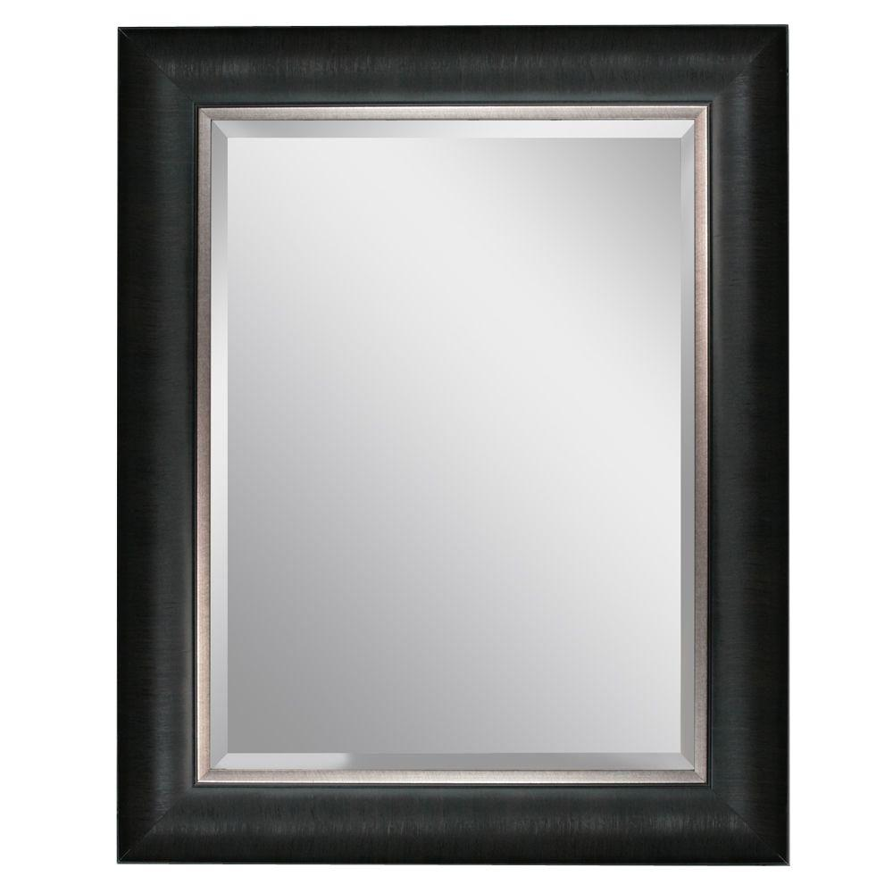 24 x 30 mirror Head West 24 in. x 30 in. Framed Vanity Mirror in Black 8670   The  24 x 30 mirror