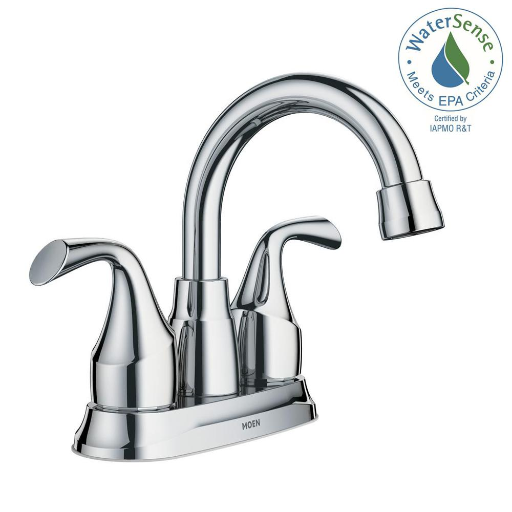 Glacier bay aragon 4 in centerset 2 handle low arc for Bathroom faucets for less