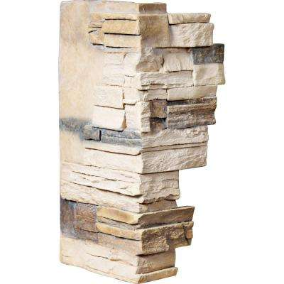 1-1/2 in. x 12 in. x 25 in. Sonora Desert Urethane Dry Stack Stone Outer Corner Wall Panel