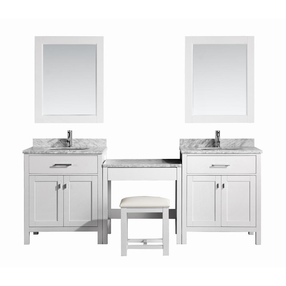 30 Inch Vanities Double Sink Bathroom Vanities Bath The Home