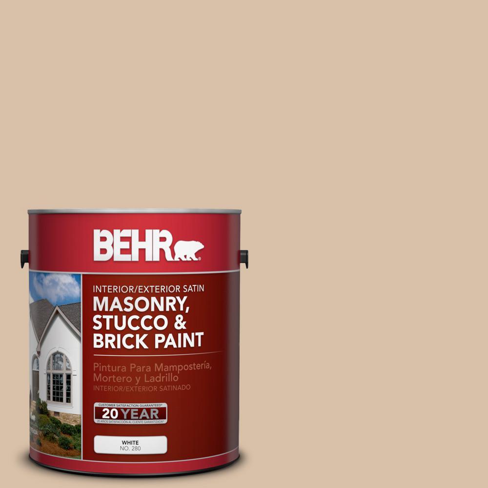 BEHR 1 gal. #S240-3 Ash Blonde Satin Interior/Exterior Masonry, Stucco and Brick Paint