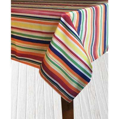 Indoor/Outdoor 60 in. x 84 in. Santa Fe Bright Polyester Tablecloth