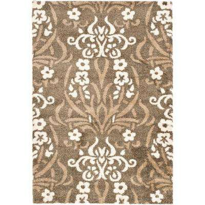 Florida Shag Smoke/Beige 8 ft. 6 in. x 12 ft. Area Rug