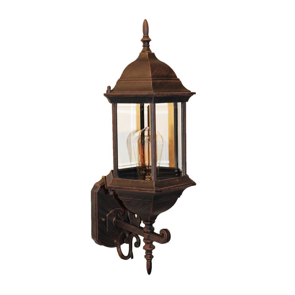 Josephine 1-Light Rust Outdoor Wall Lantern Sconce