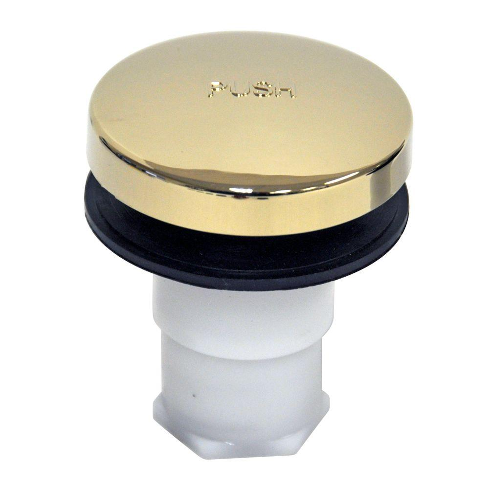 DANCO Touch Toe Bathtub Drain Stopper, Polished Brass 10756   The Home Depot