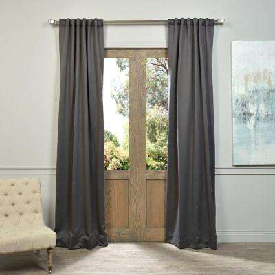 Semi-Opaque Anthracite Grey Blackout Curtain - 50 in. W x 108 in. L (Pair)