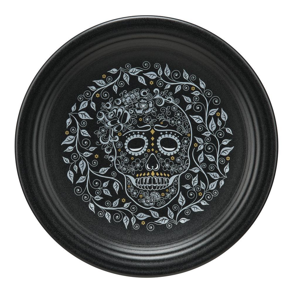 Black Skull and Vine Chop Plate
