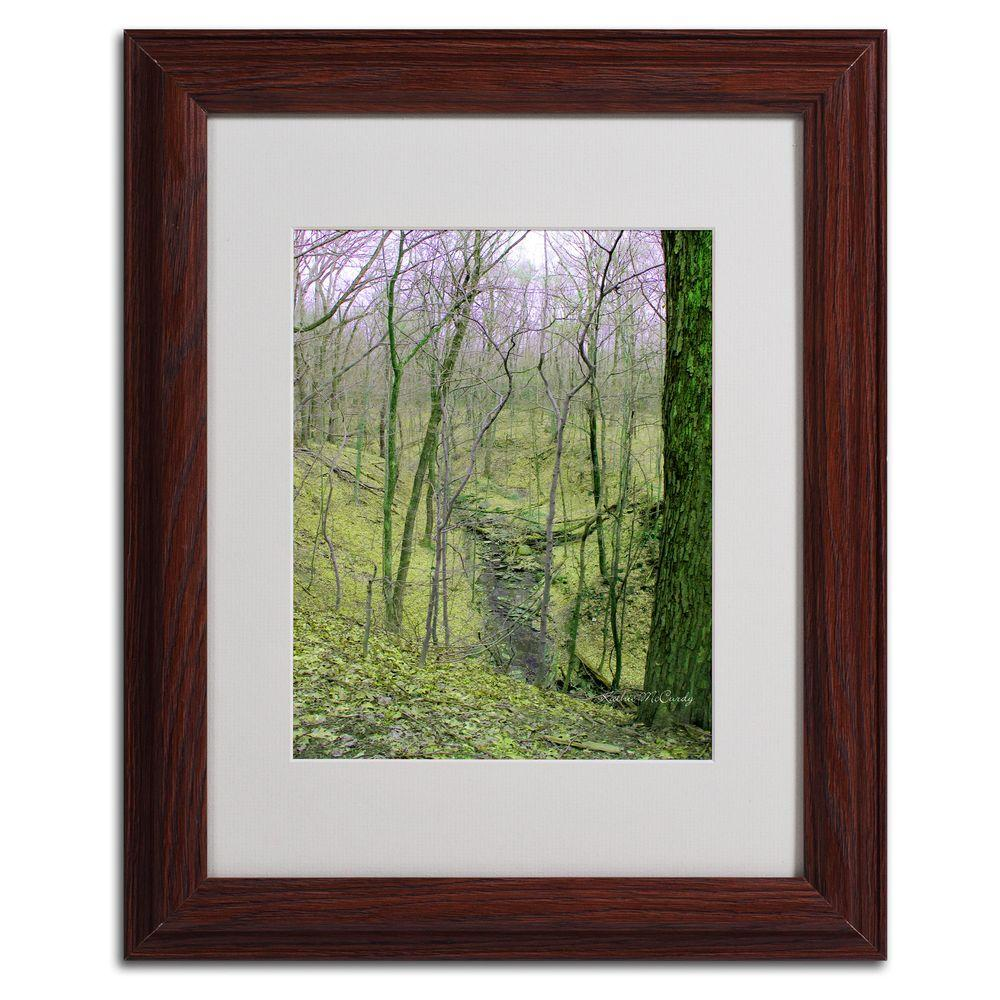 null 11 in. x 14 in. Surreal Woods Matted Framed Art