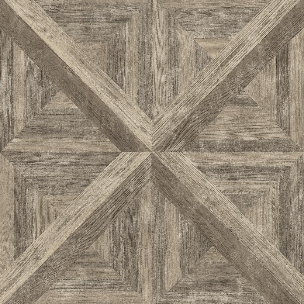 Angeline Brown Geometric Wood Wallpaper Sample