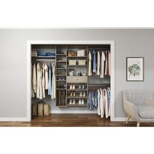 84 in. W - 108 in. W Rustic Grey Wood Closet System