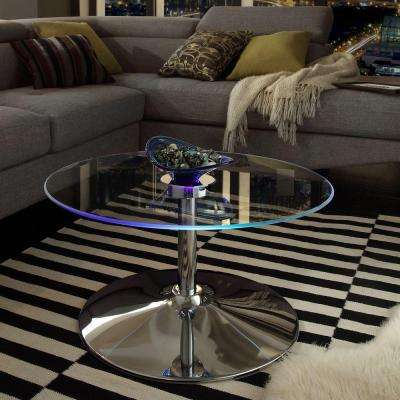 Mariposa Chrome Coffee Table