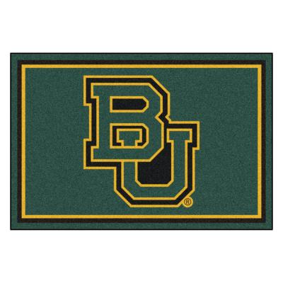 NCAA - Baylor University Grren 8 ft. x 5 ft. Indoor Area Rug