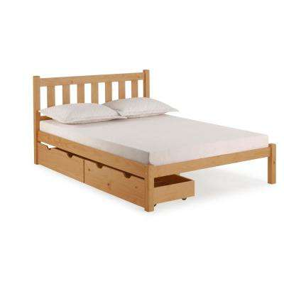 Poppy Cinnamon Full Bed with Storage Drawers