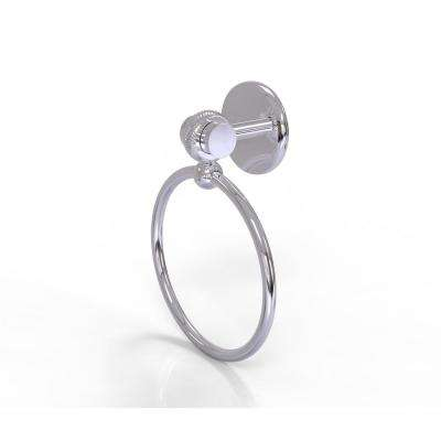 Satellite Orbit Two Collection Towel Ring with Twist Accent in Polished Chrome