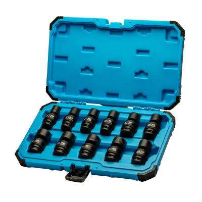 1/2 in. Drive Metric Universal Impact Socket Set (11-Piece)