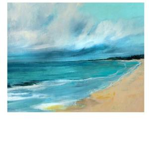 40 in. H x 50 in. W Blue Escape by Liz jardine Wall Art