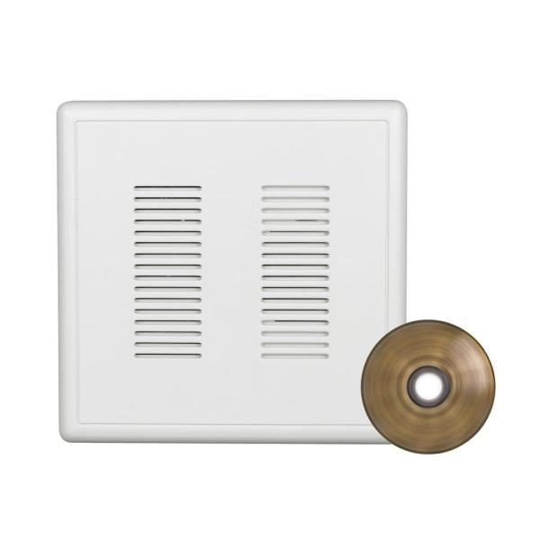 PrimeChime Plus 2 Video Compatible Wired Door Bell Chime Kit with Antique Brass Stucco Button