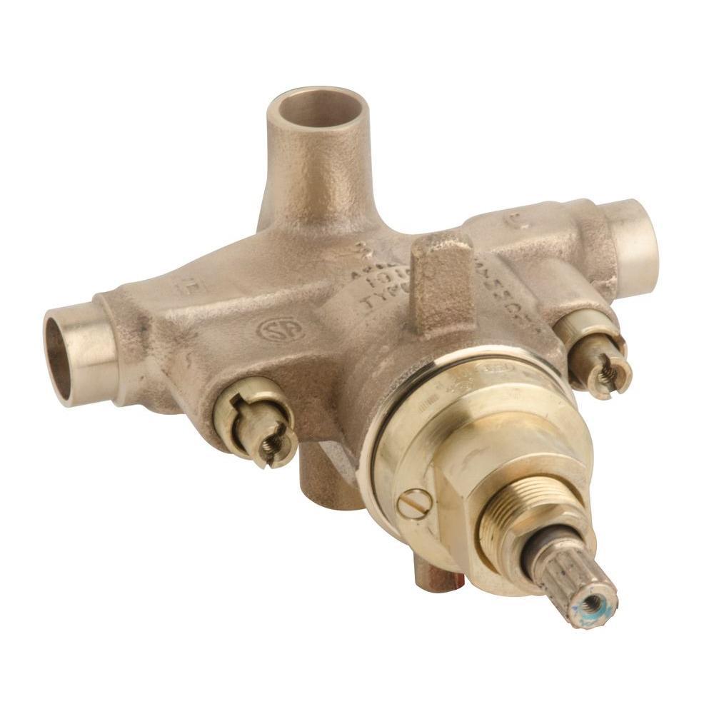 Temptrol Pressure Balancing Tub/Shower Valve Body Only in Brass