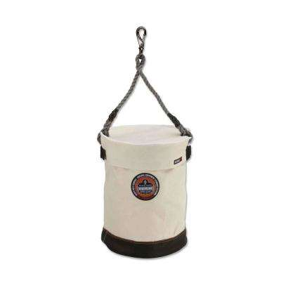 Arsenal 12.5 in Tool Bucket with Swivel Clip and Safety Top White Canvas