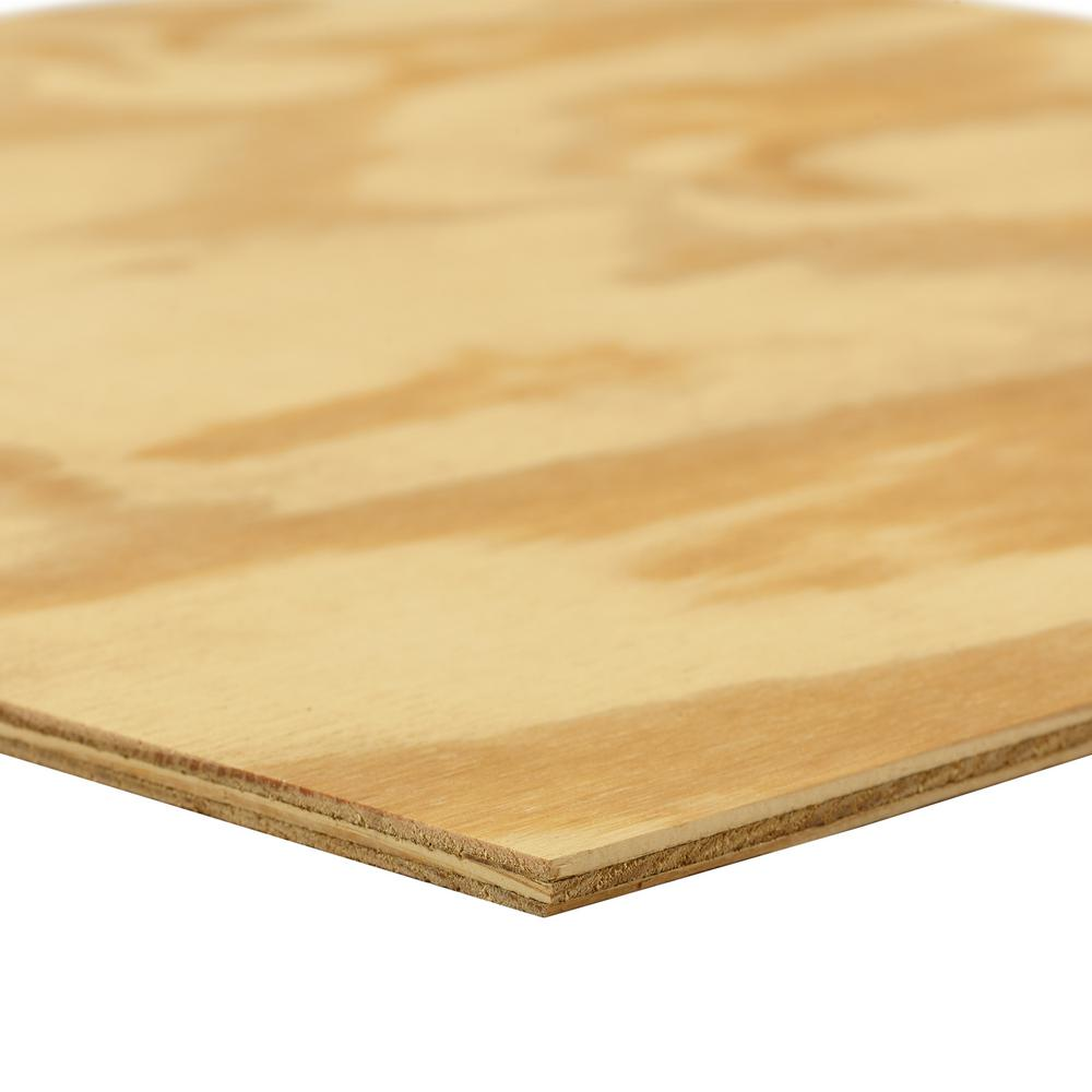 Dimensions Pine Soffit Plywood Panel (Common: 11/32 in. x 2 ft. x 4 ft.; Actual: 0.322 in. x 23.75 in. x 47.75 in.)