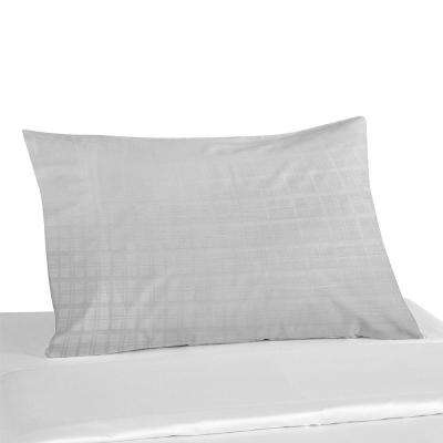 Moisture Absorbent 300TC TENCEL And Cotton White Pillow Case Dobby Weave Anti-Bacterial Envelope Closure with 2 in. Hem