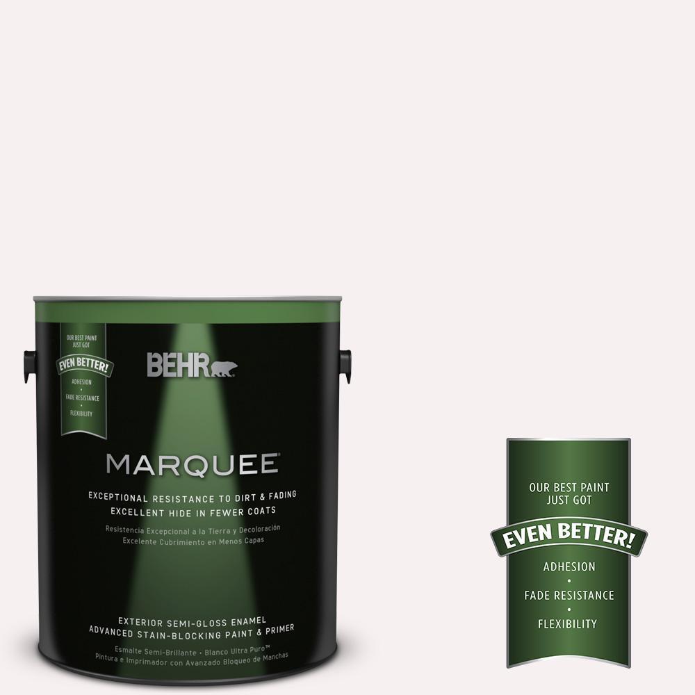 BEHR MARQUEE 1-gal. #W-B-610 Soft Breeze Semi-Gloss Enamel Exterior Paint