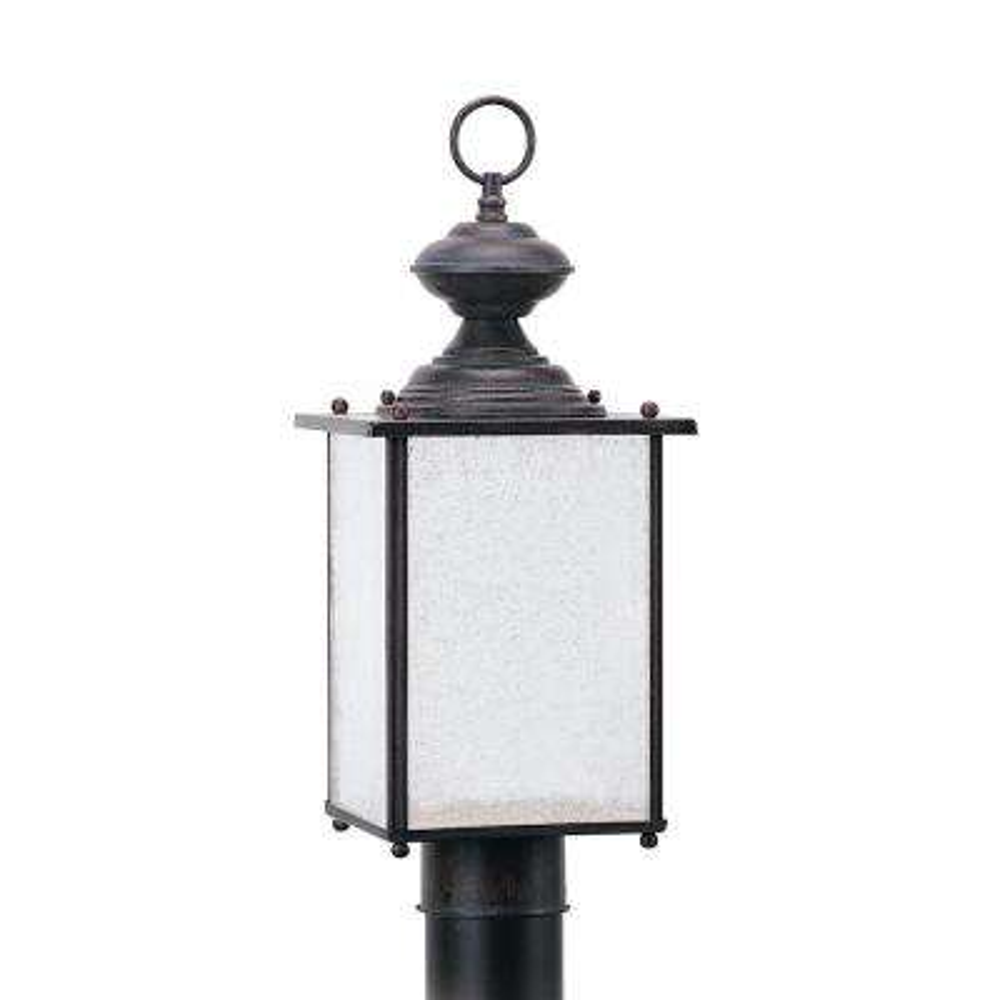 Jamestowne 1-Light Outdoor Textured Rust Patina Post Light
