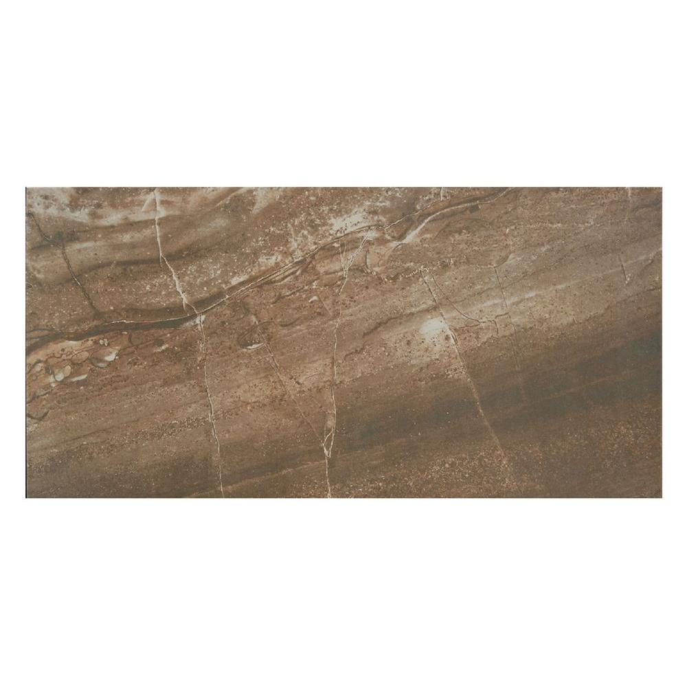 Pietra Bella Marrone 12 in. x 24 in. Porcelain Floor and