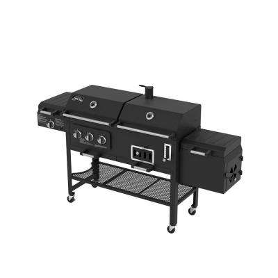 Deluxe 3-Burner Combination BBQ Propane Gas Grill