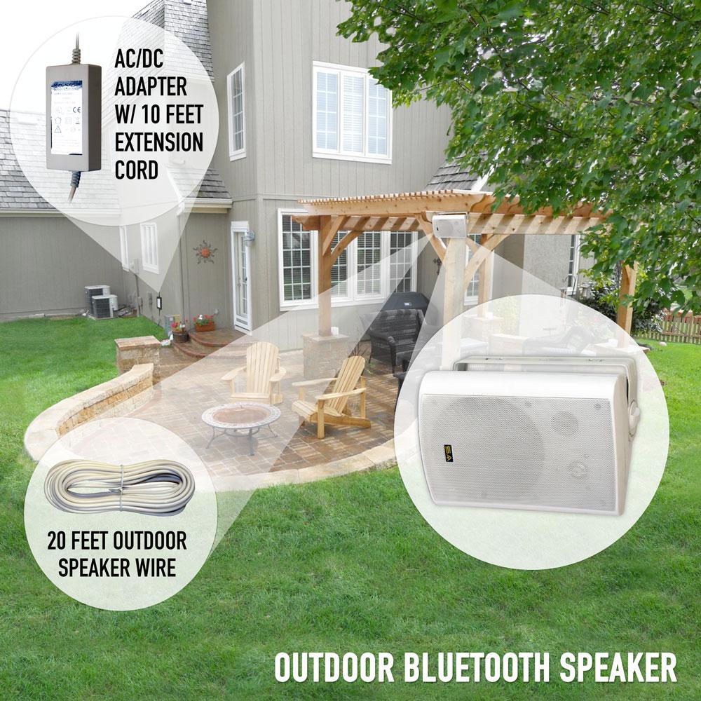 Sound Appeal Bluetooth Bt Blast 5 25 Indoor Outdoor Weatherproof Patio Speakers Gray Rated Industry Best Pair Sa Bt5 25 Gr The Home Depot