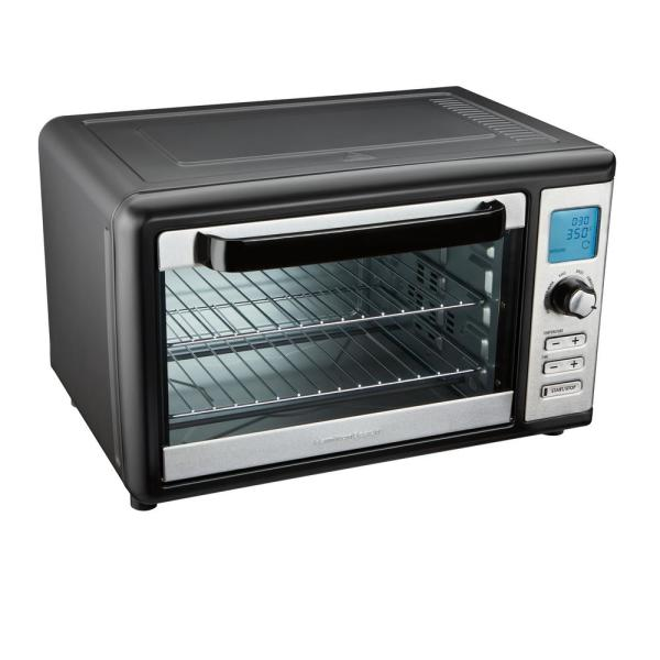 1500 W 6-Slice Stainless Steel Digital Countertop Oven with Convection and Rotisserie