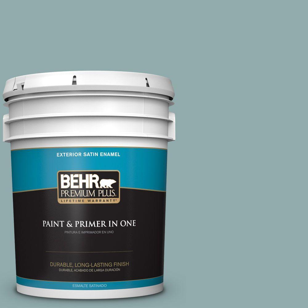 BEHR Premium Plus Home Decorators Collection 5-gal. #HDC-CL-25 Oceanus Satin Enamel Exterior Paint