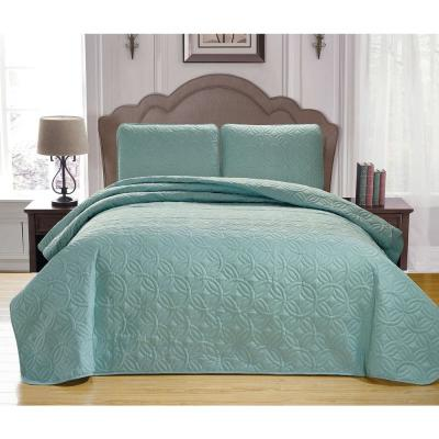 Mccubbins Blush-White King Bedspread Set