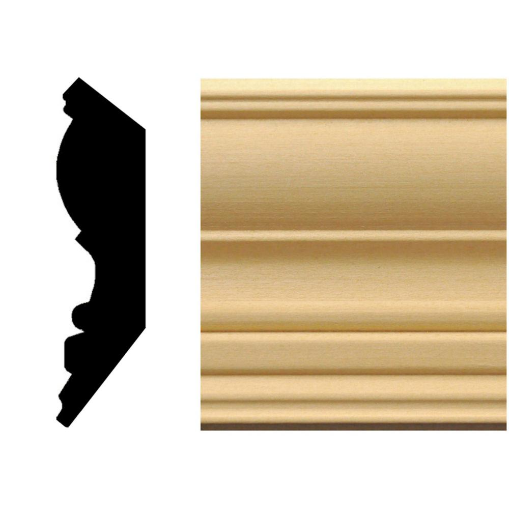 3/4 in. x 3-1/4 in. Hardwood Crown Moulding-245 - The Home Depot