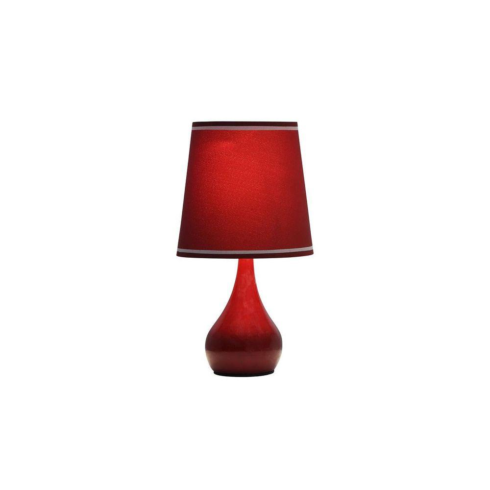 15 in. Burgundy High Modern Touch Lamp