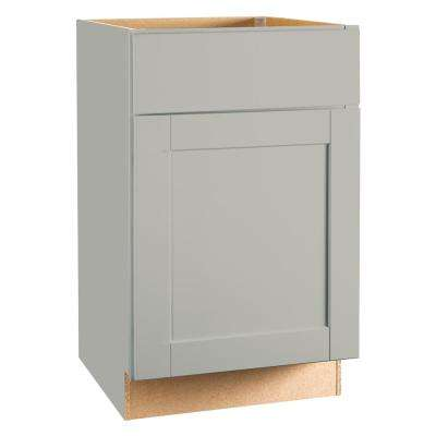 Shaker Assembled 21x34.5x24 In. Base Kitchen Cabinet With Ball Bearing  Drawer Glides