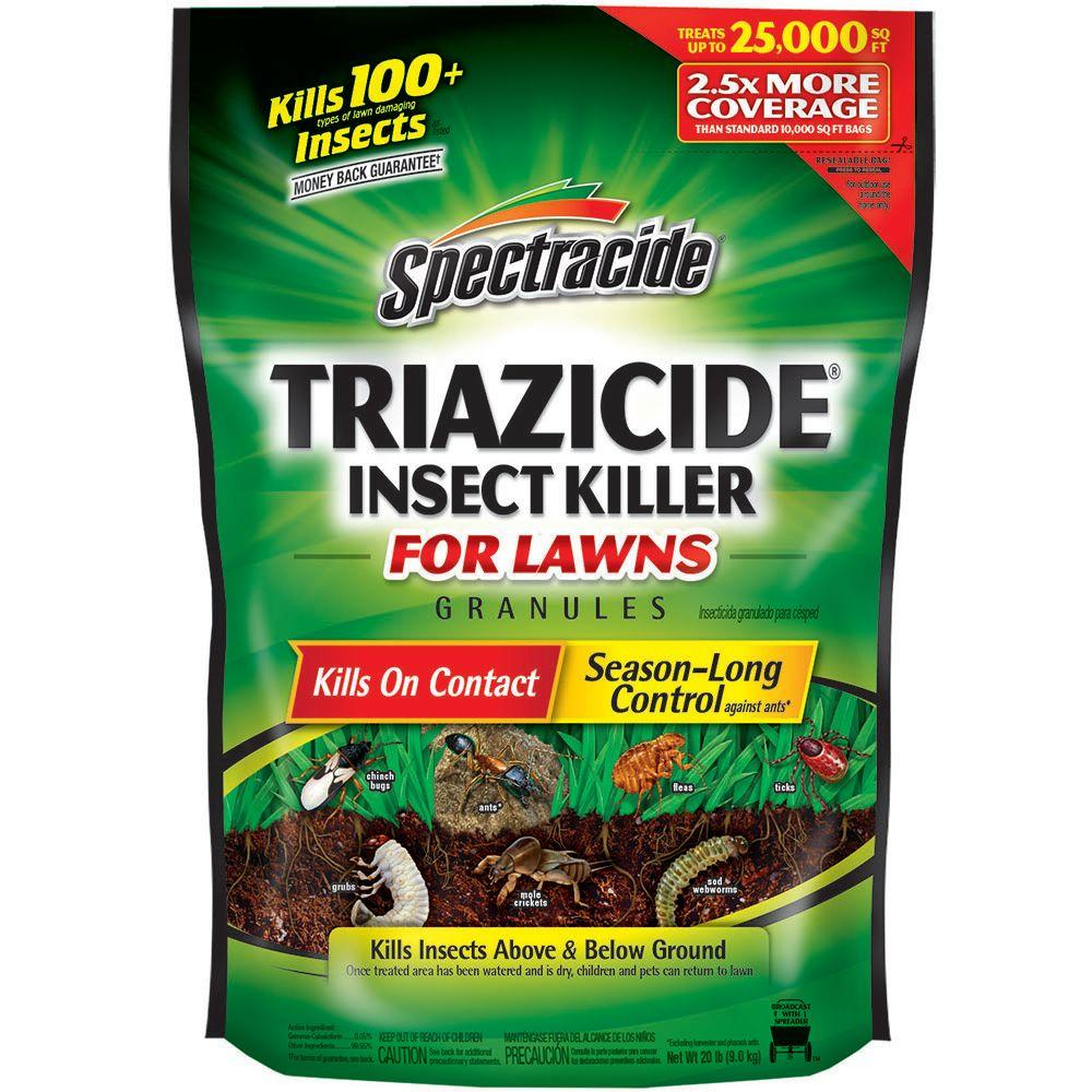 Gentil Spectracide Triazicide 20 Lb. Lawn Insect Killer Granules HG 83961   The  Home Depot