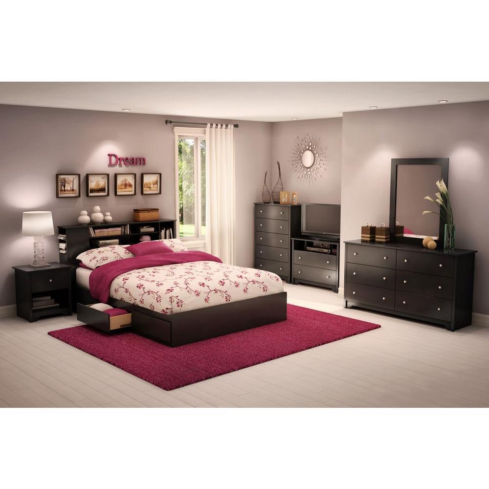 Vito 6-Drawer Pure Black Dresser