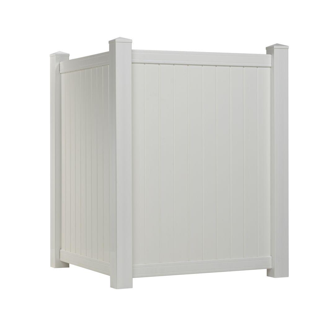 4 ft. H x 3.5 ft. W White Vinyl Privacy Corner