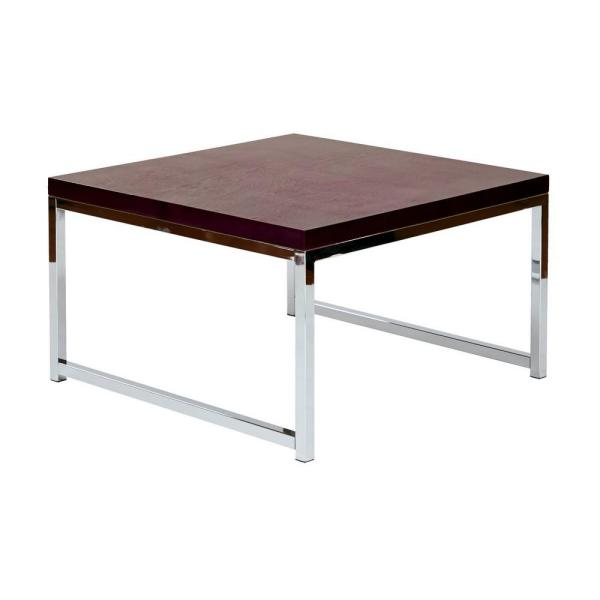 OSP Home Furnishings Wall Street Chrome and Espresso Coffee Table WST17