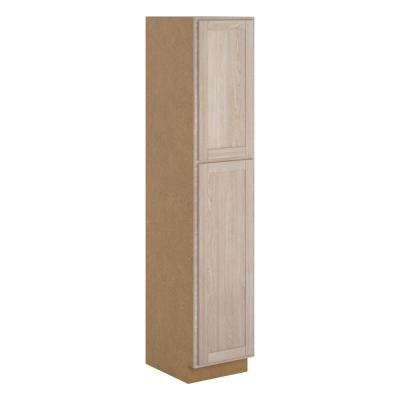 Stratford Embled 18x90x24 In Pantry Utility Unfinished Oak