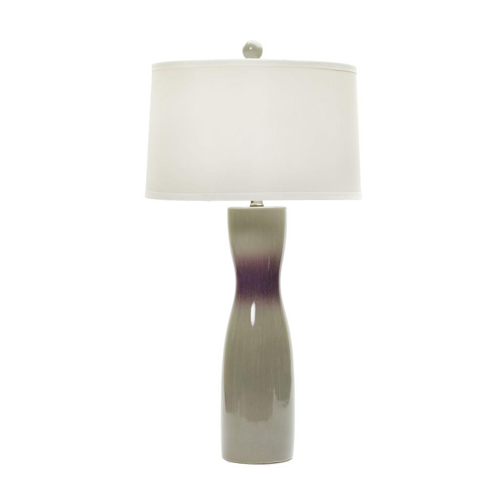 Fangio Lighting 29 in. Chelsea and Fig Crackle Ceramic Table Lamp