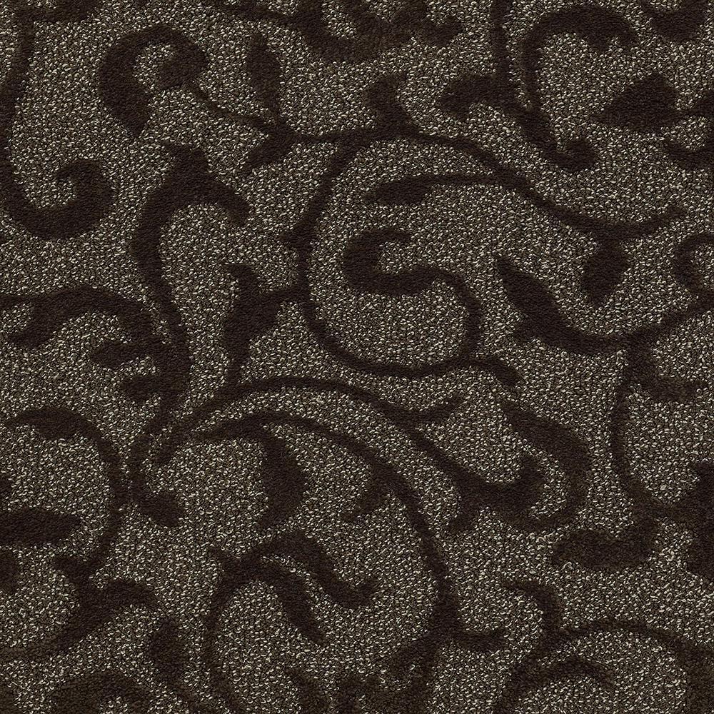 Lifeproof Swirling Vines Color Mocha Cream Pattern 12 Ft