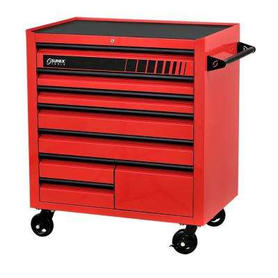 41 in. 8-Drawer Premium Utility Cart in Red