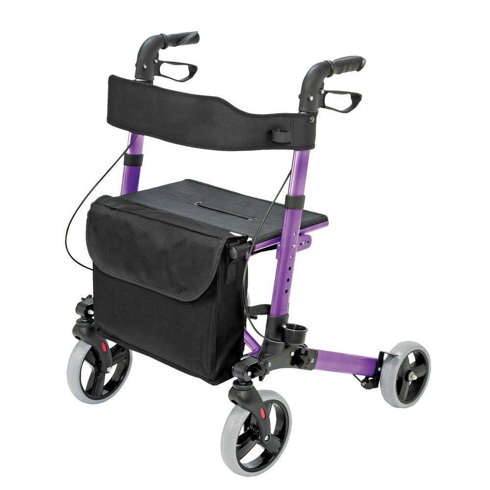 HealthSmart Gateway Aluminum Rollator in Purple