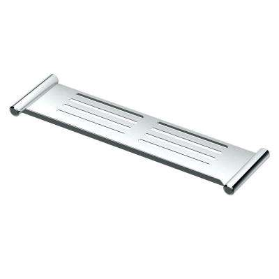 19 in. W Elegant Shower Shelf in Chrome