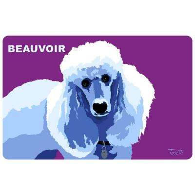 Printed Poodle 34 17.5 in. x 26.5 in. Mat