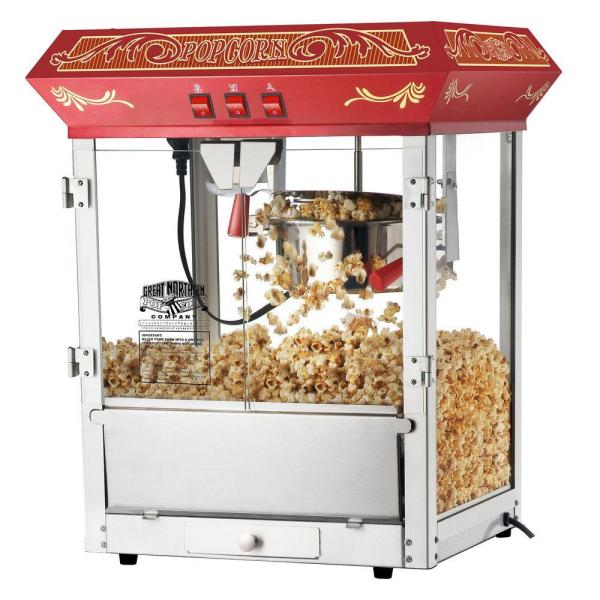 Great Northern Old Time 8 oz. Red Countertop Popcorn Machine HWD630269